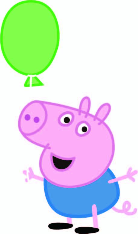 卡通动漫小猪佩奇印花矢量图服装裁片T恤烫图印花花型素材-POP花型网