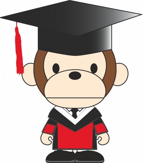 可爱卡通猴子服装裁片T恤印花烫图印花花型素材-POP花型网