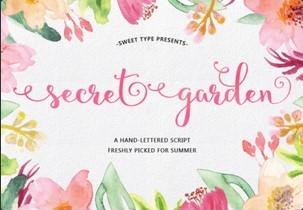 Secret Garden英文字体-POP花型网