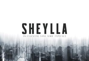 Sheylla Sans Serif英文字体-POP花型网