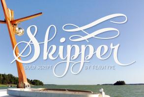 Skipper英文字体-POP花型网