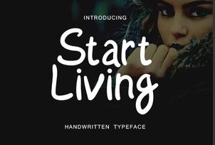 Start Living英文字体-POP花型网