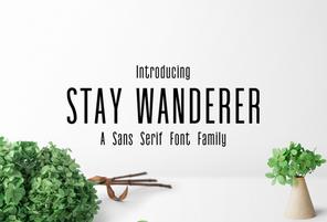 Stay Wanderer英文字体-POP花型网