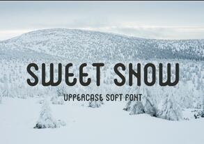 SWEET SNOW英文字体-POP花型网