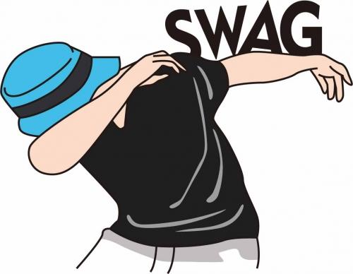 卡通动漫人物字母SWAG印花矢量图服装纺织数码印花花型素材-POP花型网