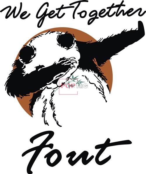 卡通动物熊猫字母印花矢量图服装裁片T恤烫图印花花型素材-POP花型网
