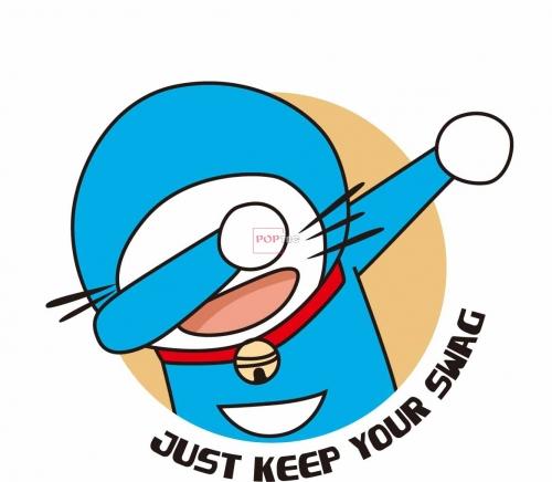 卡通动漫哆啦A梦字母印花图案服装裁片T恤印花花型素材-POP花型网
