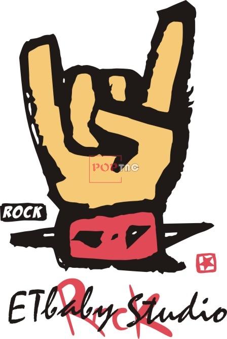 手势字母图案潮牌印花矢量图服装裁片T恤烫图印花花型素材-POP花型网