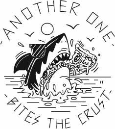 鲨鱼字母潮牌印花矢量图服装裁片T恤烫图印花花型素材-POP花型网