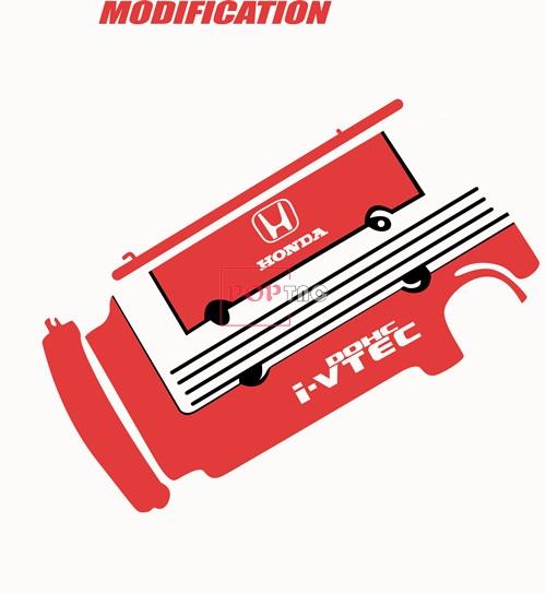 字母图案HONDA潮牌印花矢量图服装裁片T恤烫图印花花型素材-POP花型网