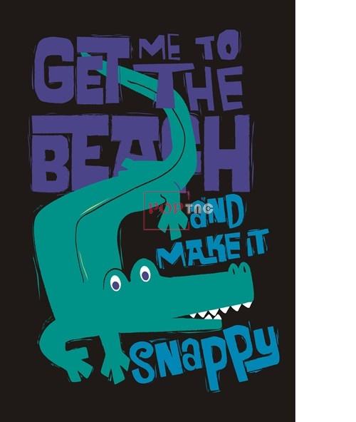卡通动物鳄鱼图案字母潮牌印花矢量图服装裁片T恤烫图印花花型素材-POP花型网