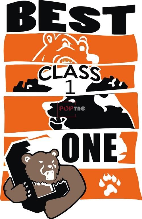 卡通动物灰熊字母印花矢量图服装裁片T恤烫图印花花型素材-POP花型网