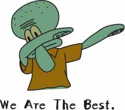 卡通动漫章鱼哥字母印花矢量图服装裁片T恤烫图印花花型素材-POP花型网