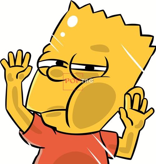 卡通动漫辛普森潮牌印花矢量图服装裁片T恤烫图印花花型素材-POP花型网