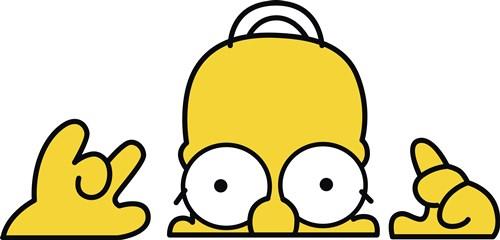 卡通动漫辛普森爸爸潮牌印花矢量图服装裁片T恤烫图印花花型素材-POP花型网