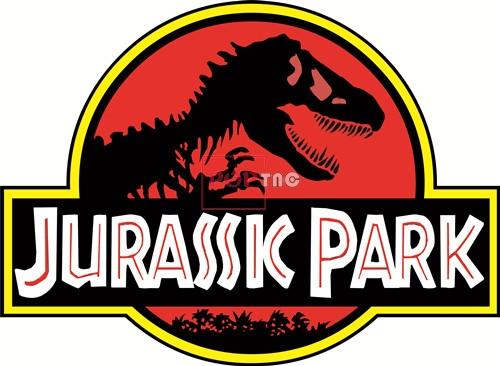 侏罗纪公园字母恐龙印花矢量图服装裁片T恤烫图印花花型素材-POP花型网