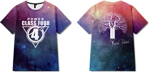 几何星空字母印花图案服装裁片T恤全身印班服印花花型素材-POP花型网