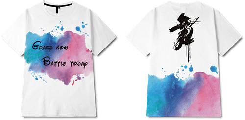 色彩涂鸦字母舞印花图案服装裁片T恤全身印印花花型素材-POP花型网