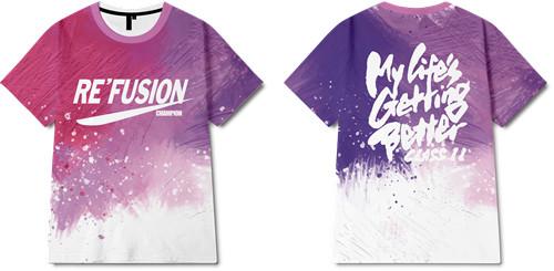 色彩涂鸦字母印花图案服装裁片T恤全身印印花花型素材-POP花型网