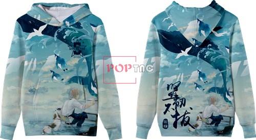 云朵鲸鱼企鹅印花图案服装裁片T恤卫衣全身印印花花型素材-POP花型网