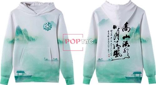 山水小船印花图案服装裁片T恤卫衣全身印印花花型素材-POP花型网
