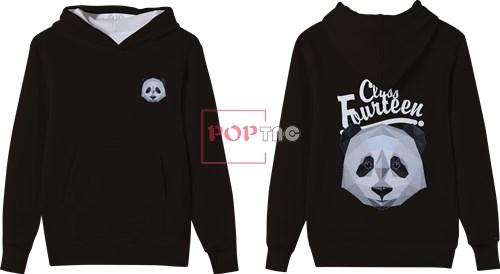 卡通动物熊猫字母印花图案服装裁片T恤卫衣全身印印花素材-POP花型网