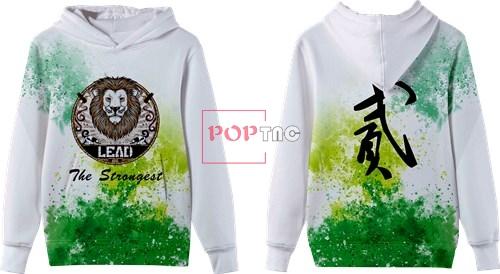 色彩涂鸦狮子头字母印花图案服装裁片T恤卫衣全身印印花花型素材-POP花型网