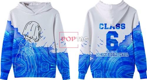 卡通人物字母印花图案服装裁片T恤班服全身印印花图案素材-POP花型网