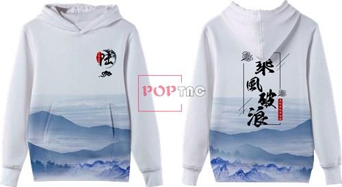 山水印花图案服装裁片T恤卫衣全身印印花图案素材-POP花型网