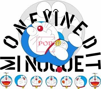 卡通动漫哆啦A梦潮牌印花服装裁片T恤烫图印花花型素材-POP花型网