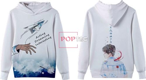 卡通动漫人物纸飞机字母印花图案服装裁片T恤卫衣班服全身印印花花型素材-POP花型网