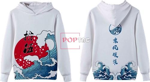 海浪太阳印花图案服装裁片T恤卫衣全身印印花花型素材-POP花型网