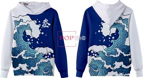 海浪印花图案服装裁片T恤卫衣全身印印花花型素材-POP花型网