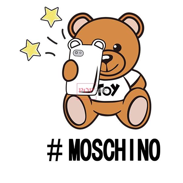 潮牌字母MOSCHINO拍照熊印花图案服装裁片T恤烫图印花花型素材-POP花型网