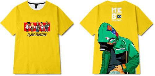 卡通动漫辛普森Supreme潮牌印花图案服装裁片T恤全身印印花花型素材-POP花型网