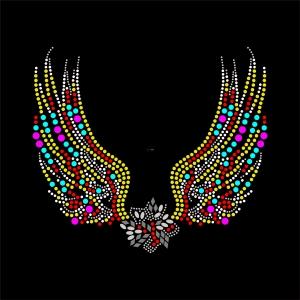 烫钻翅膀图案潮图高清T恤烫画热转印高清素材-POP花型网