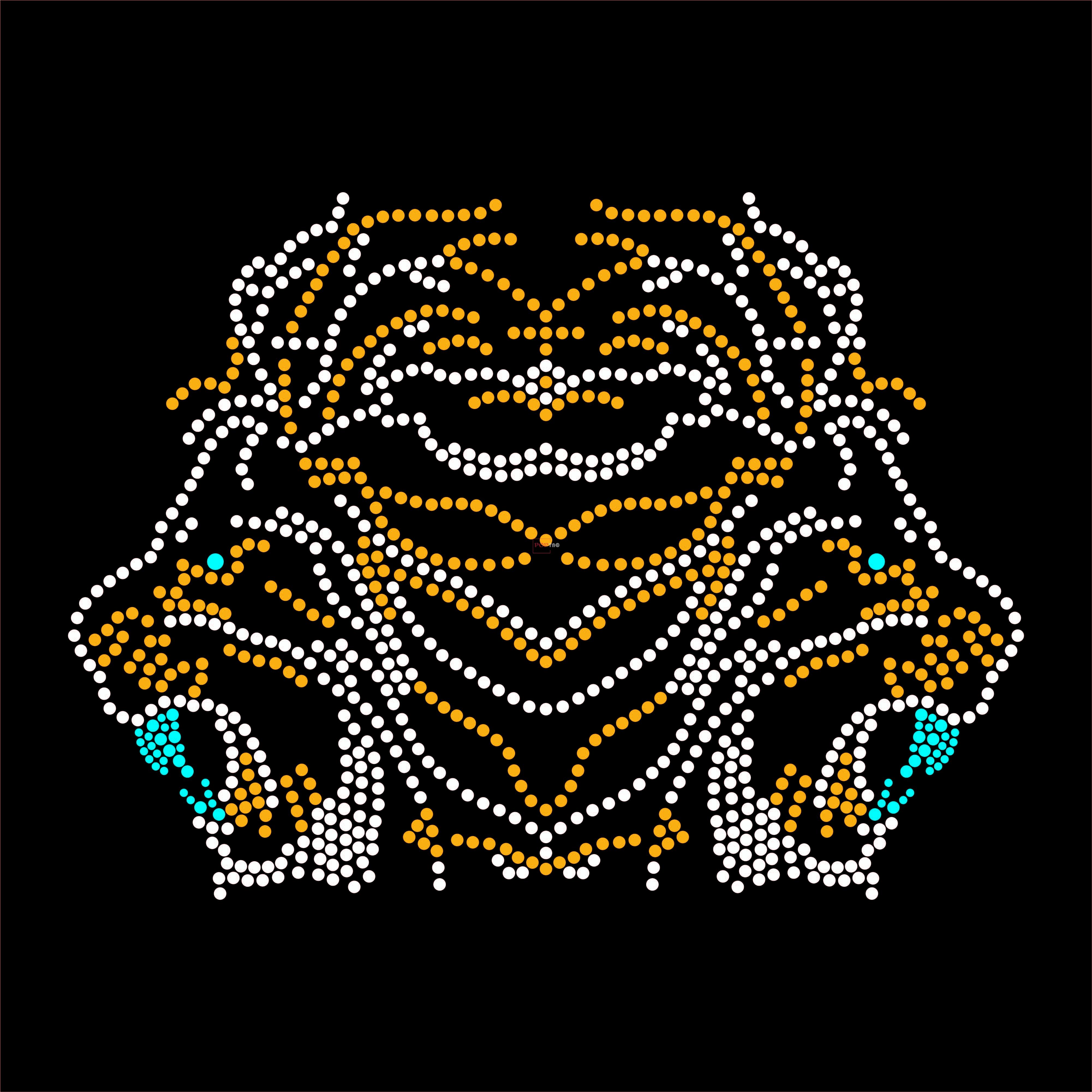 烫钻狮子图案潮图高清T恤烫画热转印高清素材-POP花型网