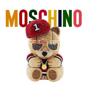 潮牌字母MOSCHINO熊印花图案服装裁片T恤卫衣烫图印花花型素材-POP花型网