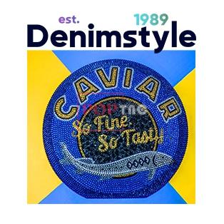 卡通动漫字母鱼印花图案服装裁片T恤卫衣烫图印花花型素材-POP花型网