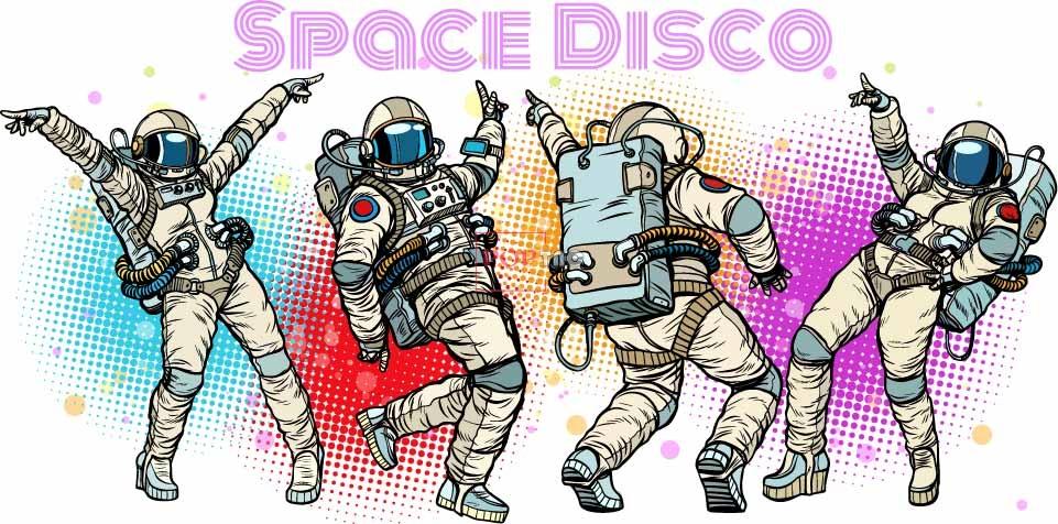 色彩图案字母太空人印花图案服装裁片T恤卫衣烫图印花花型素材-POP花型网