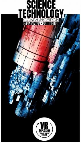 字母图案太空站印花图案服装裁片T恤卫衣烫图印花花型素材-POP花型网