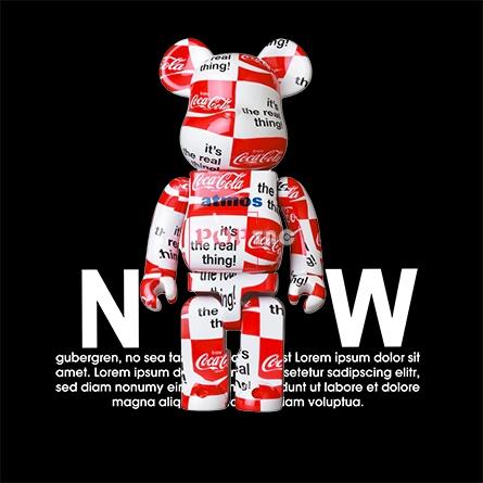 卡通动漫潮牌暴力熊字母可口可乐印花图案服装裁片T恤卫衣烫图印花花型素材-POP花型网