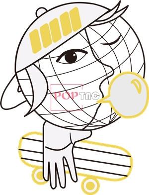卡通动漫人物滑板印花图案服装裁片T恤卫衣烫图印花花型素材-POP花型网