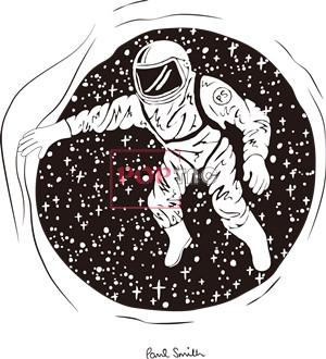 卡通动漫太空人星星印花图案服装裁片T恤卫衣烫图印花花型素材-POP花型网