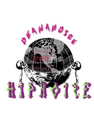 地球字母印花图案服装裁片T恤卫衣烫图印花花型素材-POP花型网