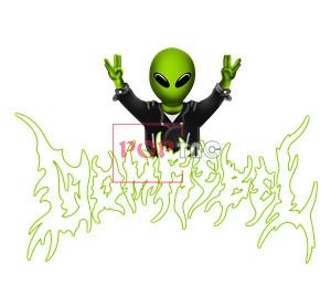 卡通外星人字母印花图案服装裁片T恤卫衣烫图印花花型素材-POP花型网