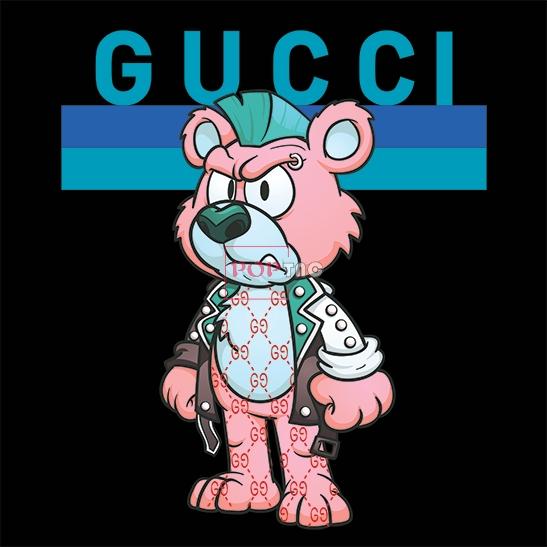 卡通动物玩偶潮牌GUCCI印花图案服装裁片T恤卫衣烫图印花花型素材-POP花型网
