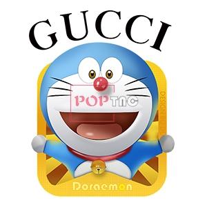 卡通动漫哆啦A梦字母GUCCI印花图案服装裁片T恤卫衣烫图印花花型素材-POP花型网