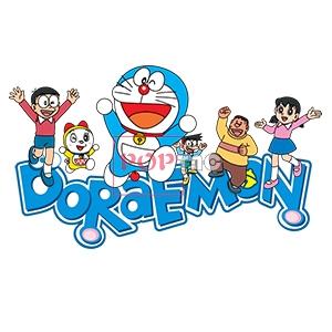 卡通动漫哆啦A梦字母DORAEMON印花图案服装裁片T恤卫衣烫图印花花型素材-POP花型网