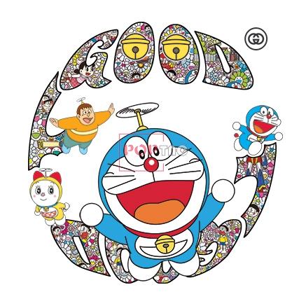 几何色彩花纹卡通动漫哆啦A梦印花图案服装裁片T恤卫衣烫图印花花型素材-POP花型网